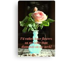 Flowers on My Table Canvas Print