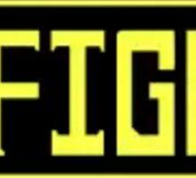 Undertale: FIGHT button Sticker