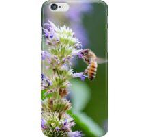 Bee on Blue Flowers 1 iPhone Case/Skin