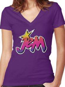 Jem Women's Fitted V-Neck T-Shirt