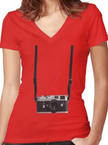 Leica M4 Women's Fitted V-Neck T-Shirt