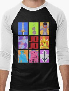 JoJo's Bizarre Adventure - Weapons & Stands Men's Baseball ¾ T-Shirt