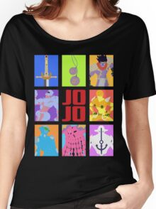 JoJo's Bizarre Adventure - Weapons & Stands Women's Relaxed Fit T-Shirt
