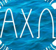Alpha Chi Omega ocean sticker Sticker