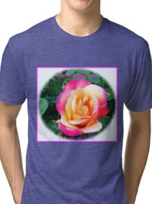A Rose of Many Colours Birthday Card Tri-blend T-Shirt
