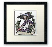 Herb Gatherer Framed Print