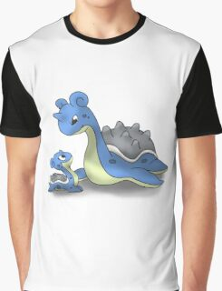 Lapras Pokemon Mother & Child Graphic T-Shirt