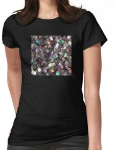 Macro Glitter Womens Fitted T-Shirt