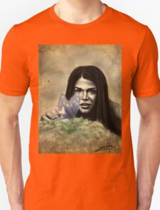 Octavia and the Butterfly (half color) T-Shirt
