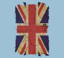 Ragged Britannia Union Jack Flag T-shirts and Stickers One Piece - Short Sleeve