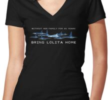 Bring Lolita Home Women's Fitted V-Neck T-Shirt