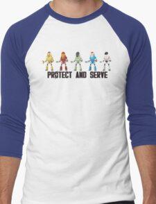PROTECT AND SERVE Men's Baseball ¾ T-Shirt