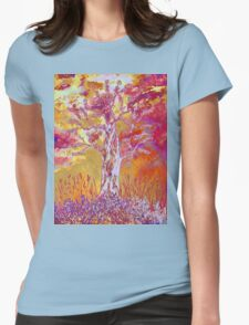 Sunset in the woods Womens Fitted T-Shirt