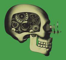 Steampunk Automaton Skull #1 Kids Tee