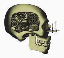 Steampunk Automaton Skull #1 Baby Tee