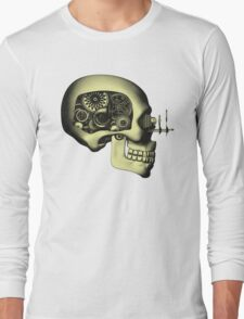 Steampunk Automaton Skull #1 Long Sleeve T-Shirt