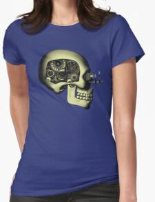 Steampunk Automaton Skull #1 Womens Fitted T-Shirt