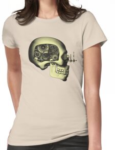 Vintage Steampunk Automaton Skull #1 Womens Fitted T-Shirt