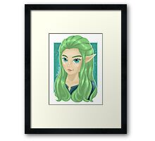 Miranna, The Forest Elf Framed Print