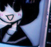 Anime Chibi TV Face Sticker