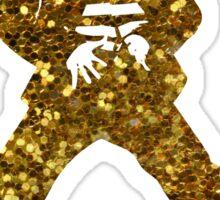 gold elvis presley Sticker