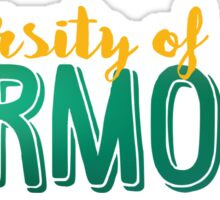 UVM University of Vermont Sticker