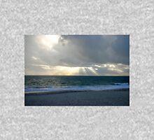Sun shining through clouds at beach Unisex T-Shirt