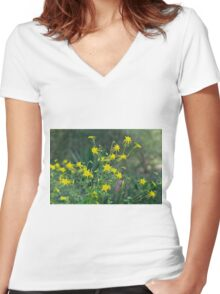 A Field of Golden Glory Women's Fitted V-Neck T-Shirt