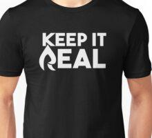 "Faze Rain | ""Keep it Real"" | Black Background | White Text | HIGH QUALITY Unisex T-Shirt"