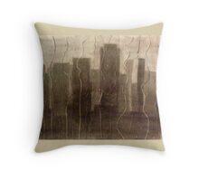 Rainy City Window Throw Pillow