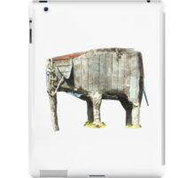 Cement elephant sculpture iPad Case/Skin