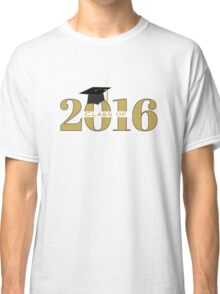 Gold Class of 2016 with Mortarboard Classic T-Shirt