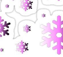 Pink Snowflakes Sticker