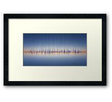 City Panorama / skyline at night - Digital Art / abstract cityscape Framed Print