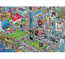 pixel art land Photographic Print