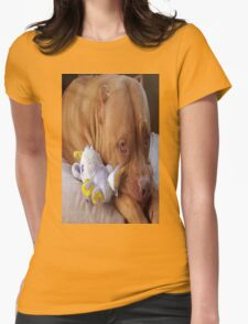 Pitbull Pose Womens Fitted T-Shirt
