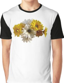 White and Yellow Daisies Graphic T-Shirt