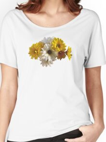 White and Yellow Daisies Women's Relaxed Fit T-Shirt
