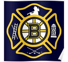 Boston Fire - Bruins style Poster