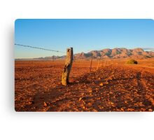 Outback Fence Canvas Print