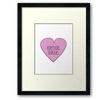 Yorkshire Terrier Love Framed Print