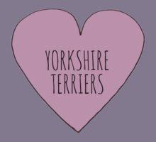 Yorkshire Terrier Love Kids Tee