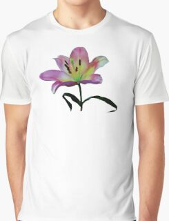 Pink Lily Graphic T-Shirt