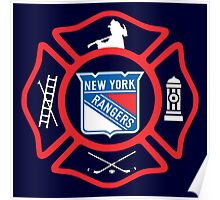 FDNY - Rangers style Poster