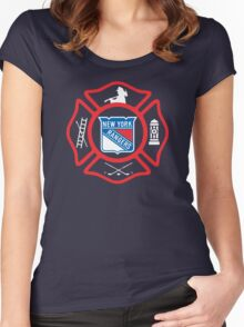 FDNY - Rangers style Women's Fitted Scoop T-Shirt