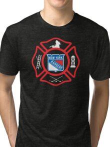 FDNY - Rangers style Tri-blend T-Shirt