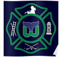 Hartford Fire - Whalers style Poster