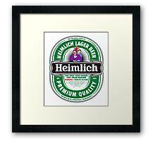 Heimlich Beer Framed Print