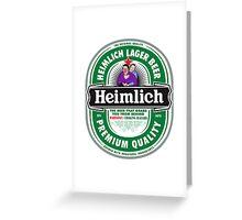 Heimlich Beer Greeting Card
