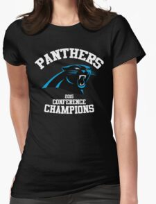 Carolina Panthers 2015 NFC Conference Champions Womens Fitted T-Shirt